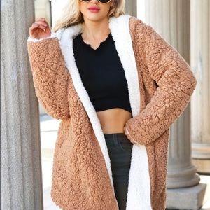 UO Carmella Cozy Reversible Teddy Coat